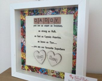 Scrabble Father's Day frame