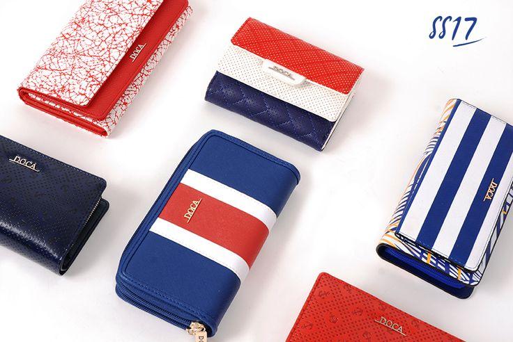 Nautical Wallets!  www.doca.gr  #doca #ss17 #nautical #stripes #wallets #bags #accessories #marine #saltmarine #fashion