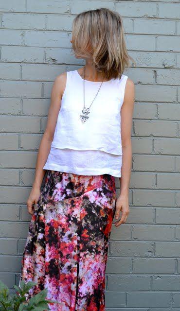 Funkbunny: Lovely linen layers - Tessuti Kate Top pattern