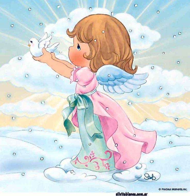 Ángel santo de mi guarda, compañero de mi vida, tú que nunca me abandonas, ni de noche ni de día. Aunque espíritu invisible, sé que te hallas a mi lado, escuchas mis oraciones y cuentas todos mis pasos. Continue leyendo