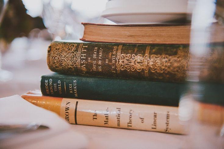 Book stack centrepieces