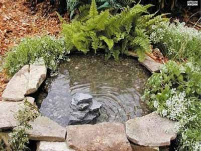 How to make a gorgeous decorative pond from old tires for Make your own pond liner