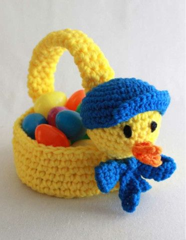 Easter Crochet Patterns For Beginners : 1000+ ideas about Knit Basket on Pinterest Crochet ...