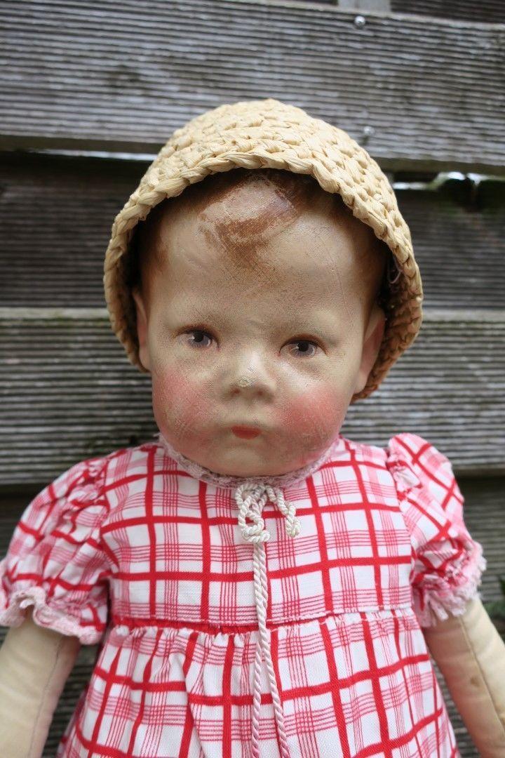 Antike alte Käthe Kruse Puppe I, bespielt, breite Hüften, ca 43cm in Antiquitäten & Kunst, Antikspielzeug, Puppen & Zubehör | eBay!