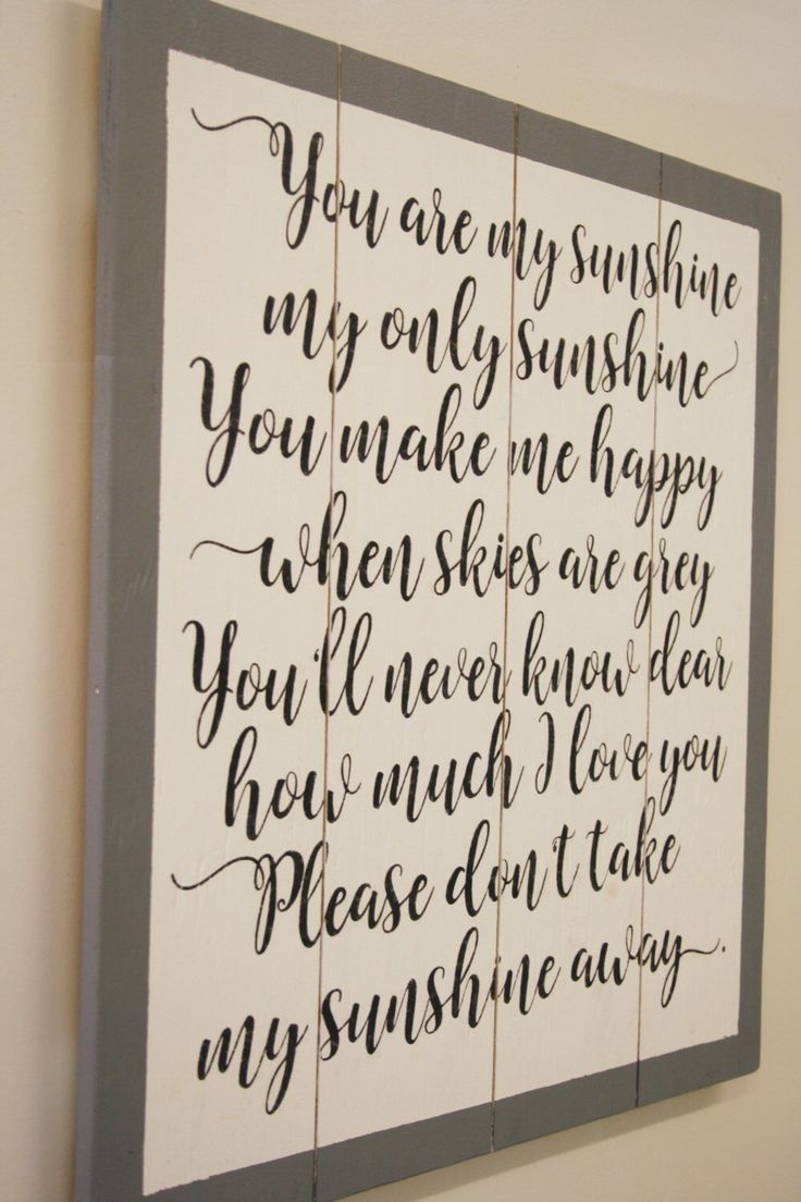 You Are My Sunshine Wood Sign Nursery Wall Art Boys Nursery Girls Nursery Vintage Nursery Above Crib Sign Nursery Wall Decor New Baby by RusticlyInspired on Etsy https://www.etsy.com/listing/490011317/you-are-my-sunshine-wood-sign-nursery