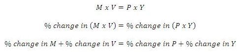 The Quantity Theory of Money: The Quantity Equation - Growth Rates Form