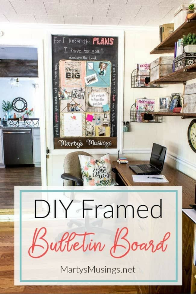 Carve out a space in your small home office nook for an easy diy bulletin board