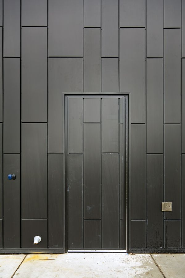 Zinc Metal Panels : Chinguacousy ski chalet s zinc door such a nice touch