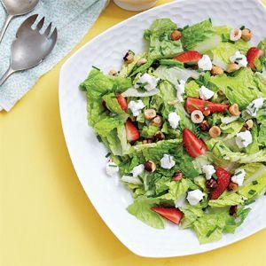 Salade de romaine et de fraises