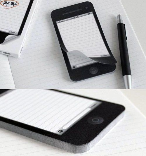 An alternative to the good old pen and paper notepad is a notepad app on your phone to take notes on.