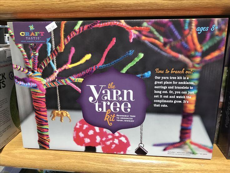 Yarn tree kit #kits #jewlery #diy #crafts #crafty #fun #kids #create #imagine #imaginationstation