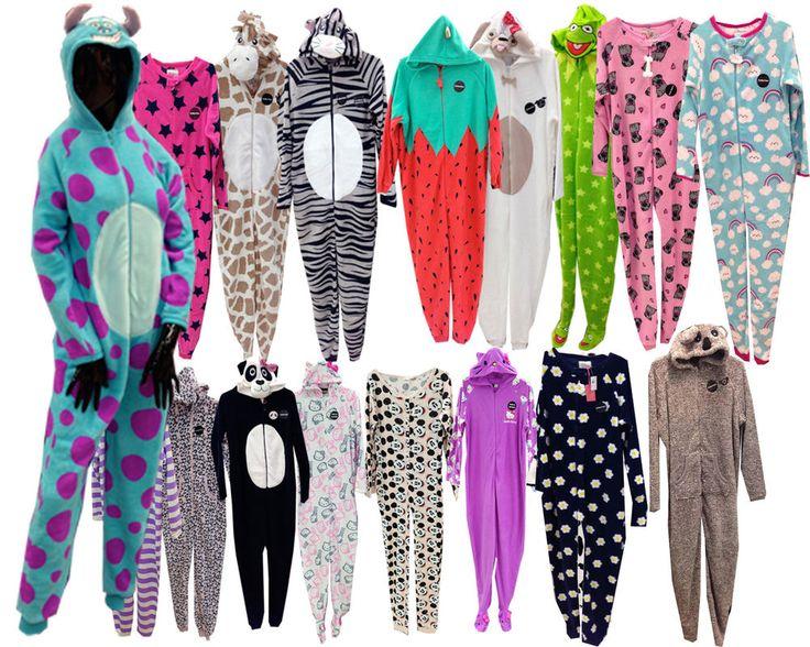 Ladies Womens Cute Animal Monster Onesie Pyjamas PJ Jumpsuit 6-16 Party Primark