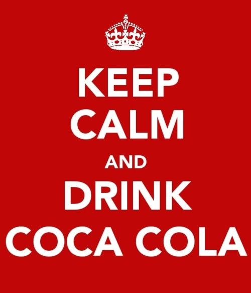 Right!  My Dad used to say that when you get uptight, you should just go get a Coca-Cola and pour it into a glass with ice and just be calm and drink and things will start looking better.  Used to make me laugh, but I think there's a lot of truth in it.  :)
