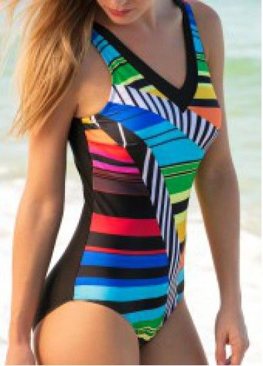 ef0d0dc9498d6 Printed Padded V Back One Piece Swimwear on sale only US 29.29 now ...