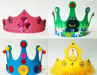 laboratori per bambini  corone principesse carnevale
