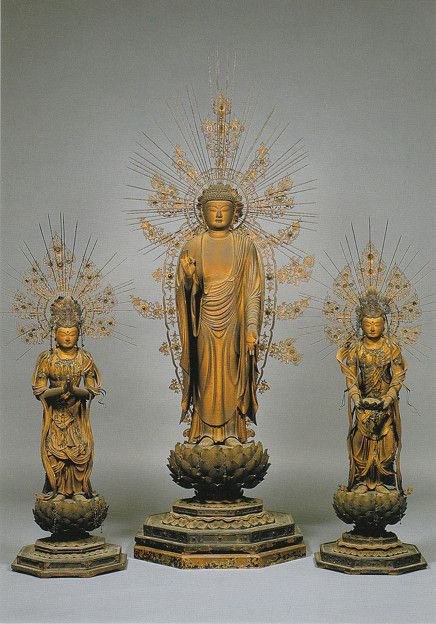 Amitabha Triad, Kaikei, Kodai-in temple, Mt. Koya, Wakayama