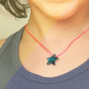 kids wear neon - starfish honeysuckle necklace