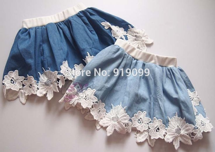 5pcs/lot Baby Girls Tutu Skirt fluffy pettiskirt Denim Skirt Princess Lace Skirt Kids Casual ...