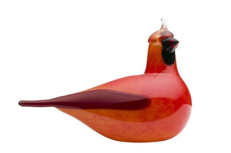 iittala Birds by Toikka red cardinal / roter Kardinal Glas-Objekt Finnland NEU