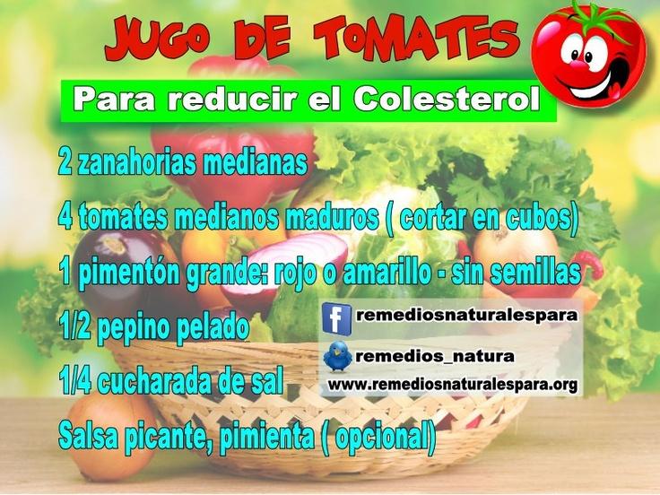 remedios naturales para reducir el colesterol y los