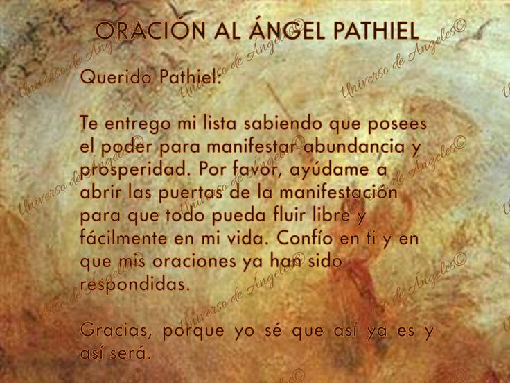 """PATHIEL… OTRO ÁNGEL DE LA PROSPERIDAD Y ABUNDANCIA  Su nombre significa """"el que abre"""". A él es a quien tienes que invocar si quieres abrir las puertas de la manifestación para que puedas crear abundancia y prosperidad.  Escribe una petición y pídele a ángel Pathiel tus deseos. Después, entrégale tu lista y confía en que tus oraciones han sido escuchadas y serán respondidas.  #UniversoDeAngeles www.facebook.com/UniversoAngeles"""