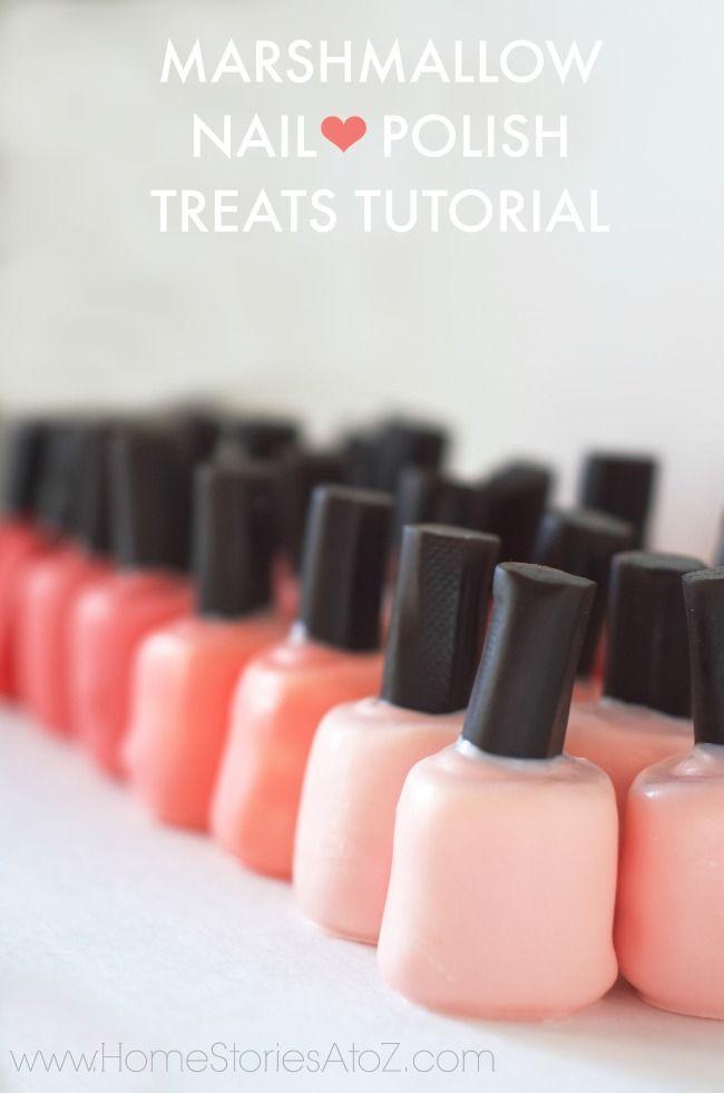 Marshmallow nail polish treats tutorial