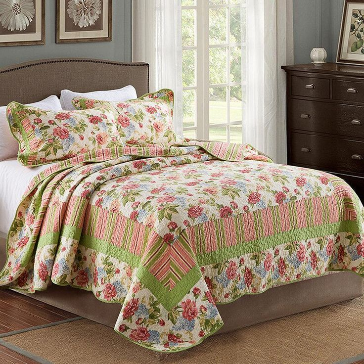 Chausub Qualitat Patchwork Quilt Set 3pcs Floral Gewaschener