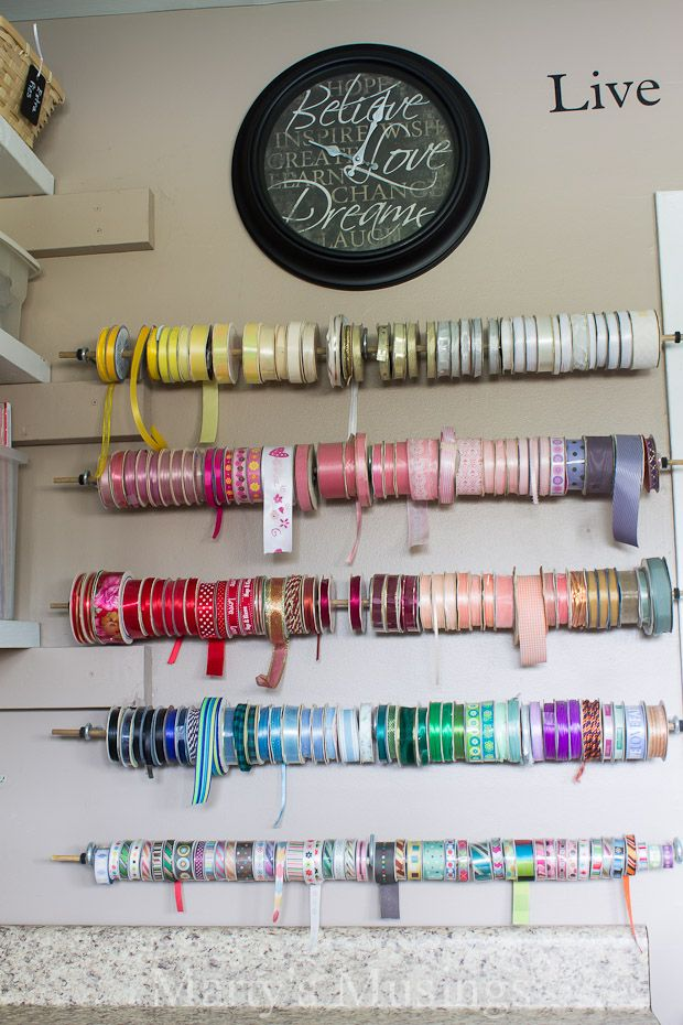 ... Craft Ribbon Storage Ideas 219 Best Organize Craft Hobby Images On ...
