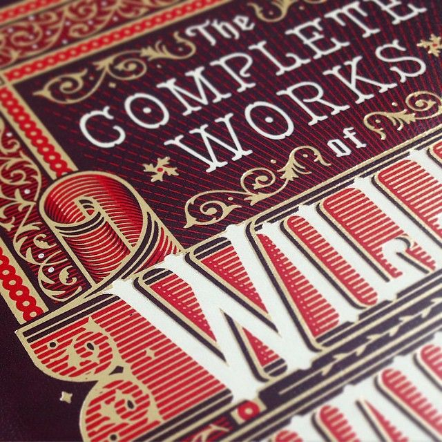 「Sneak peak of a proof for a book cover I'm verrrry excited about. #lettering #illustration #typography #leatherbound」
