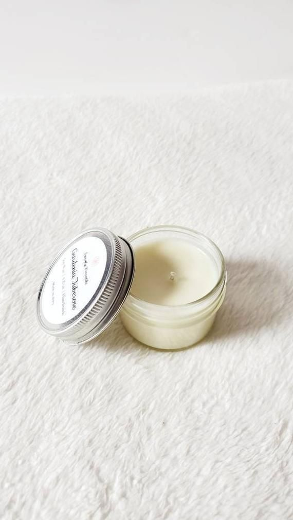 Gardenia Tuberose Scented Candle 4oz Jar Soy Wax Candle Hand