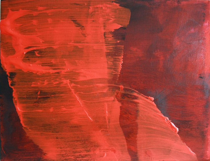 Geoff Hands - 'Red Sea' 2012. Acrylic on canvas.
