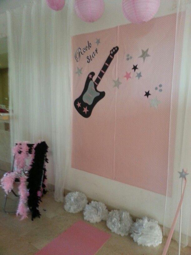 diseo y decoracin de eventos sevilla photocall fiesta rock star cumpleaos de nia