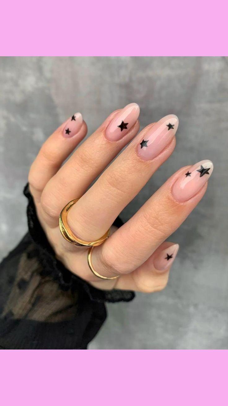 Aycrlic Nails, Chic Nails, Star Nails, Stylish Nails, Nude Nails, Coffin Nails, Nail Manicure, Hair And Nails, Elegant Nails