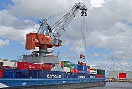 Port, Crane, Boat Ship, Load, Quay