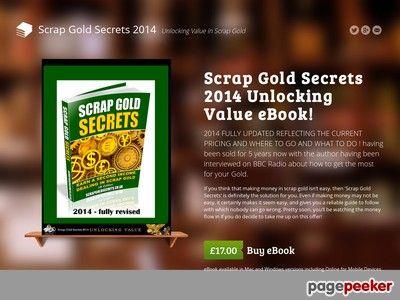Scrap Gold Secrets 2014 - Scrap Gold Ebook - Where to Sell Scrap Gold - Scrap Gold Prices
