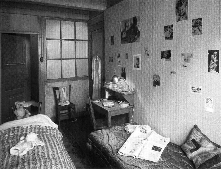 Anne & Margot Frank's room in the 'secret annex'