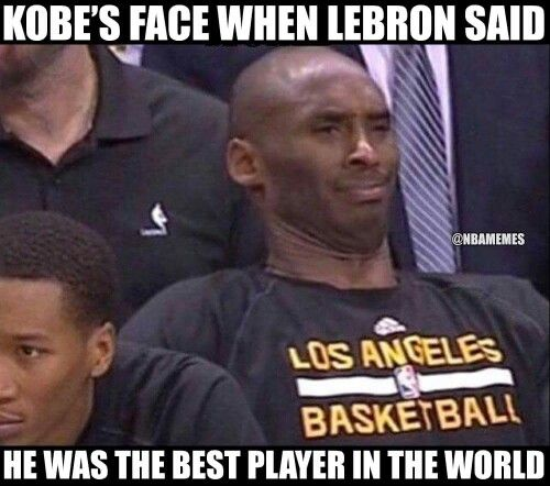 MY face when Lebron said he was the best player in the world, lol.