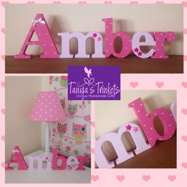 Shades of pink free standing name