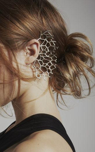 Coral Ear Cuff - contemporary nature inspired jewellery design // Katie Gallagher