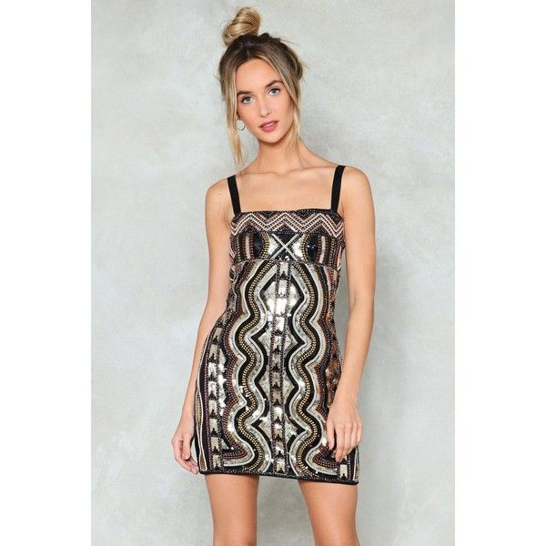 Nasty Gal Square Neck Sequin Bodycon Mini Dress ($90) ❤ liked on Polyvore featuring dresses, gold, gold sequined dress, mini cocktail dresses, sequin bodycon dress, sequin bodycon dresses and bodycon cocktail dresses