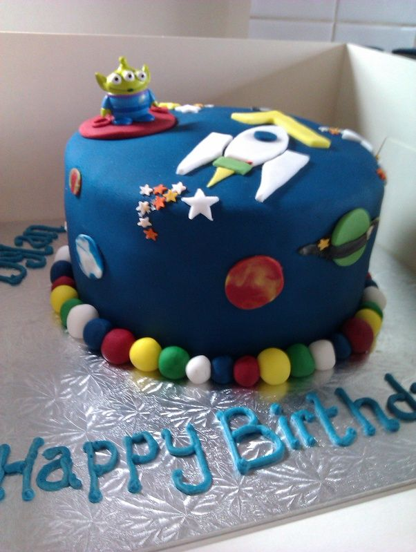 16 best images about harry 39 s space party on pinterest for Outer space cake design