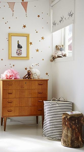 Adorable wallpapered corner