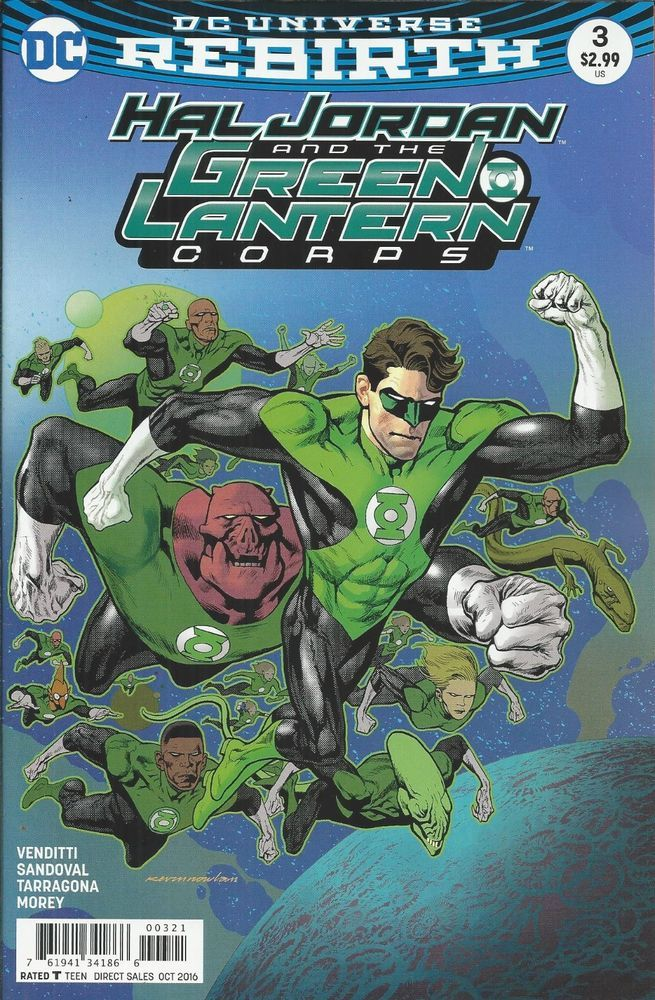 DC Hal Jordan and the Green Lantern Corps comic issue 3 Limited variant