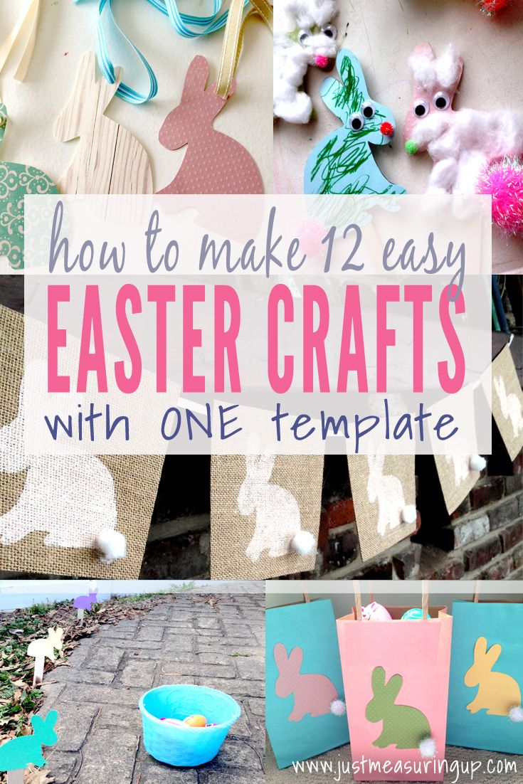 You can make 12 easy Easter crafts from this same bunny template! Free Printable