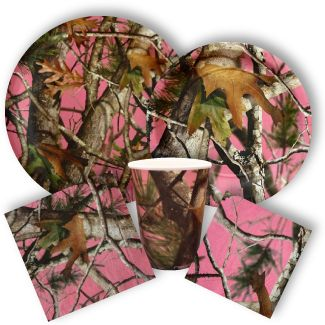 Pink Camo Party Supplies from www.DiscountPartySupplies.com