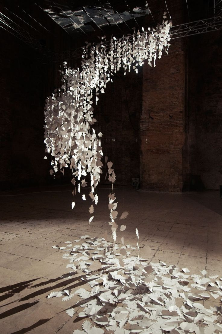 """InBox"" paper installation, Design Week 2014 Budapest, Kiscelli Museum, Zsofi Szigeti feat. Karcsi Papírboltja"