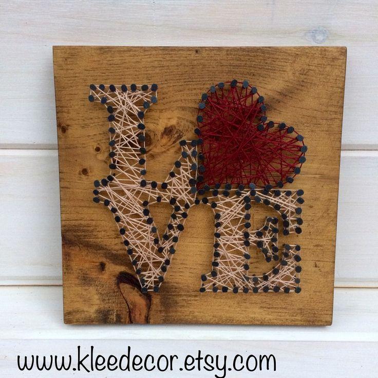 LOVE String Art. www.kleedeor.etsy.com