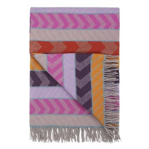 throw blankets purple gray and orange blanket