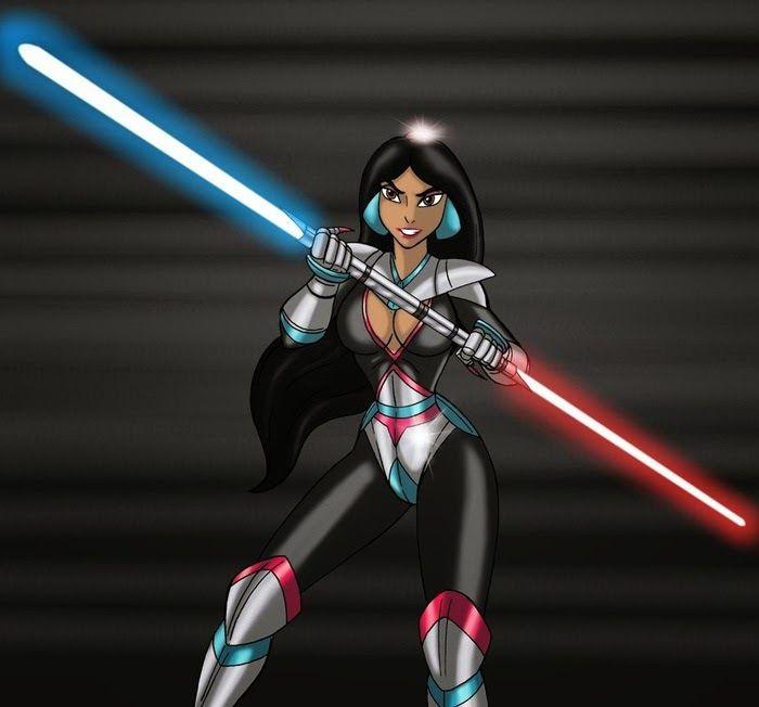 Galaxy Fantasy: Las Princesas de Disney se pasan al lado oscuro, transformándose en señoras Sith de Star Wars