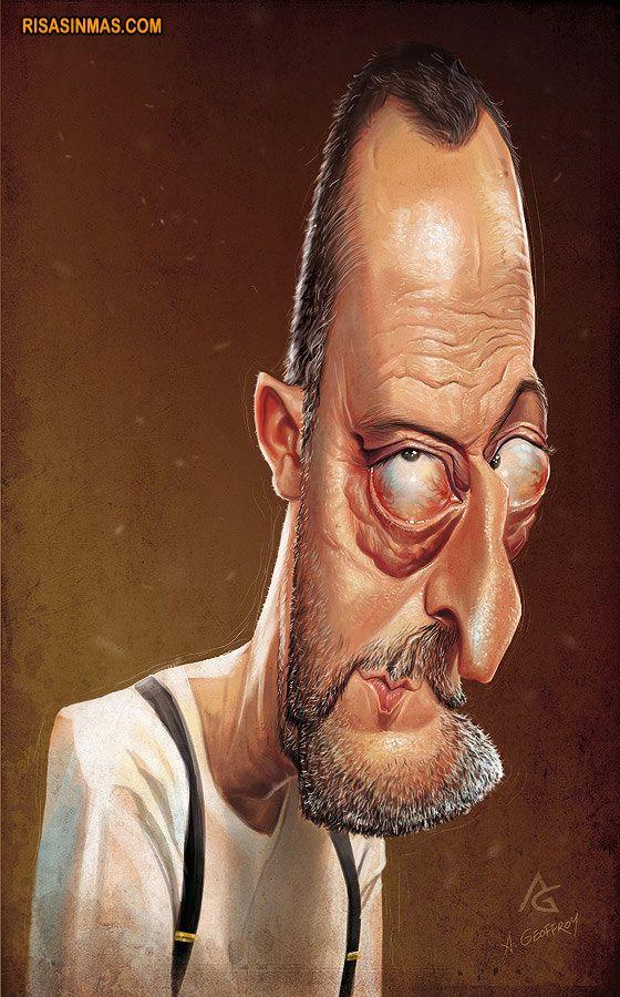 Caricatura de Jean Reno  http://bit.ly/LlYAH7